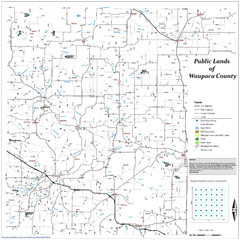 Public Lands of Waupaca County Map
