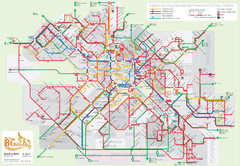 Public transport in Sofia Map