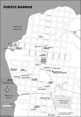 Puerto Barrios city Map