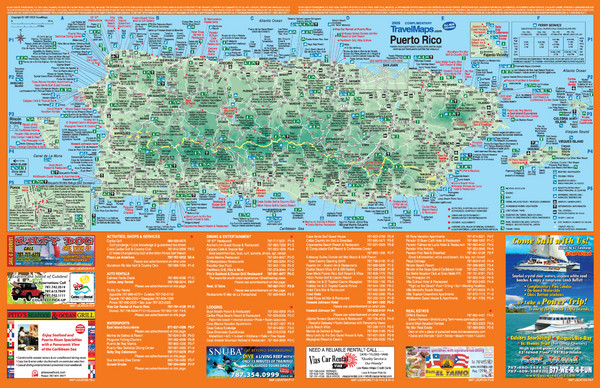 Puerto Rico Tourist Map