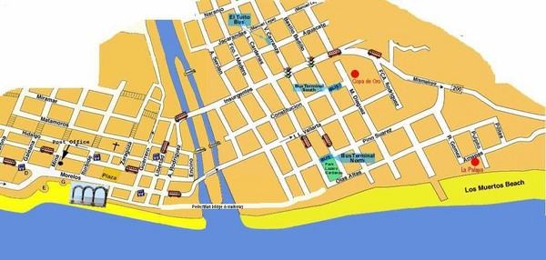 fullsize puerto vallarta mexico beach tourist map