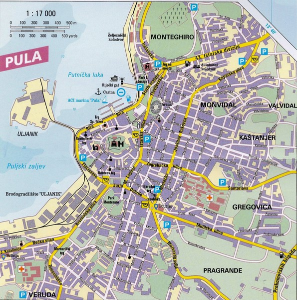 Pula City Map