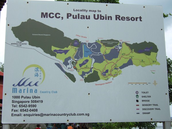 Pulao Ubin Island Trail Map