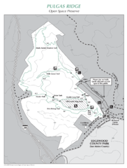 Pulgas Ridge Open Space Preserve Map
