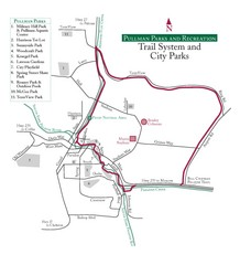 Pullman Parks Trail Map