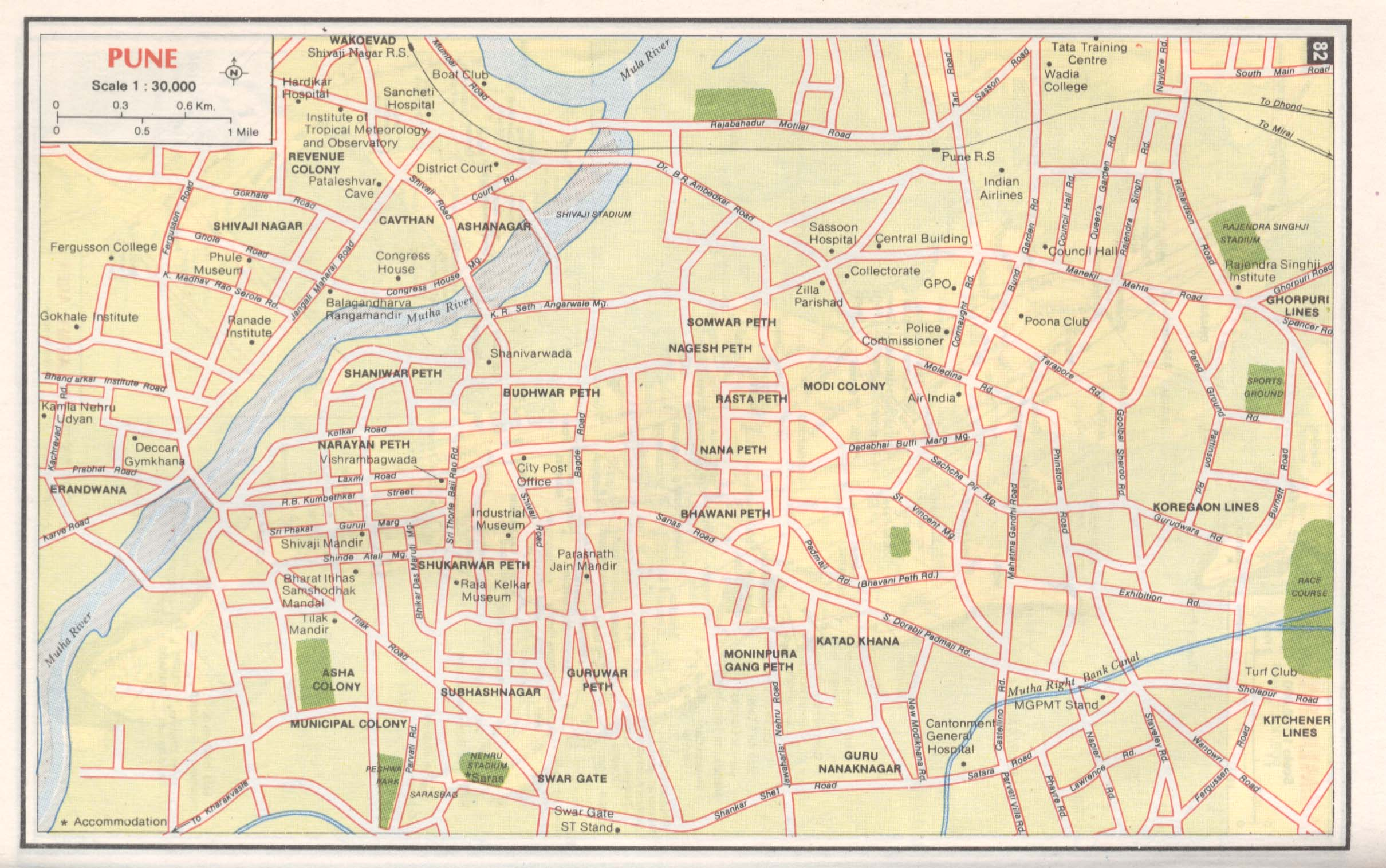 Pune City Map