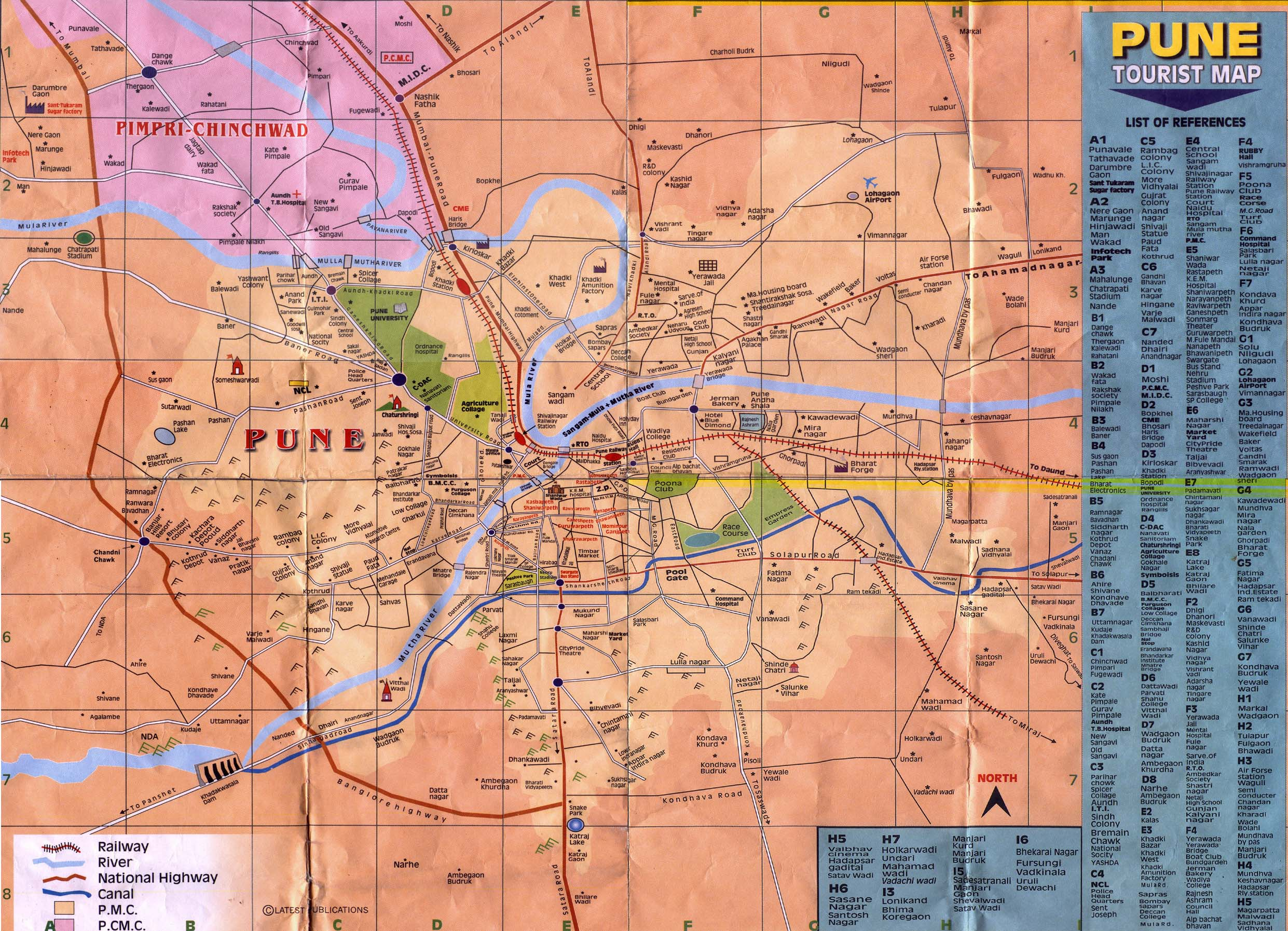 Pune tourist map see map details from ankitjain info