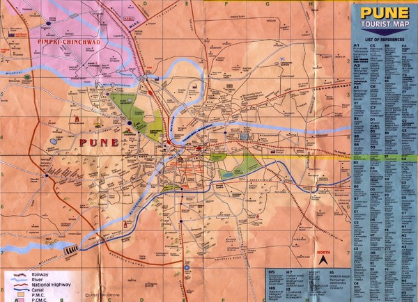 Pune Tourist Map