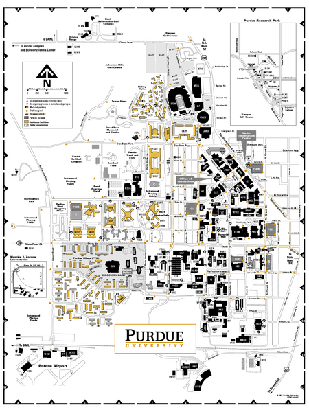Purdue University Campus Map Purdue University   Main Campus Map   West Lafayette IN • mappery