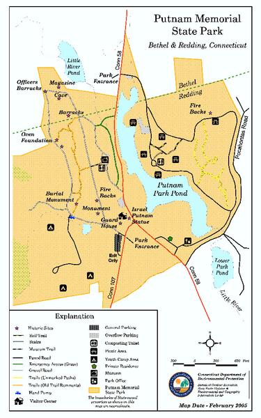 Putnam Memorial State Park map bethel ct mappery