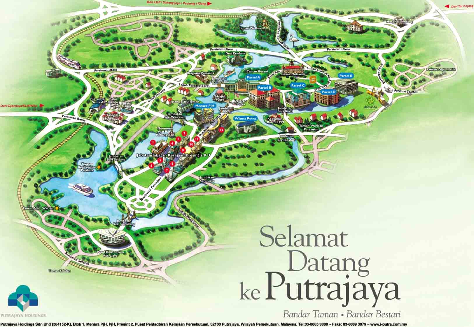 map of putrajaya