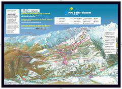 Puy Saint-Vincent Ski Trail Map