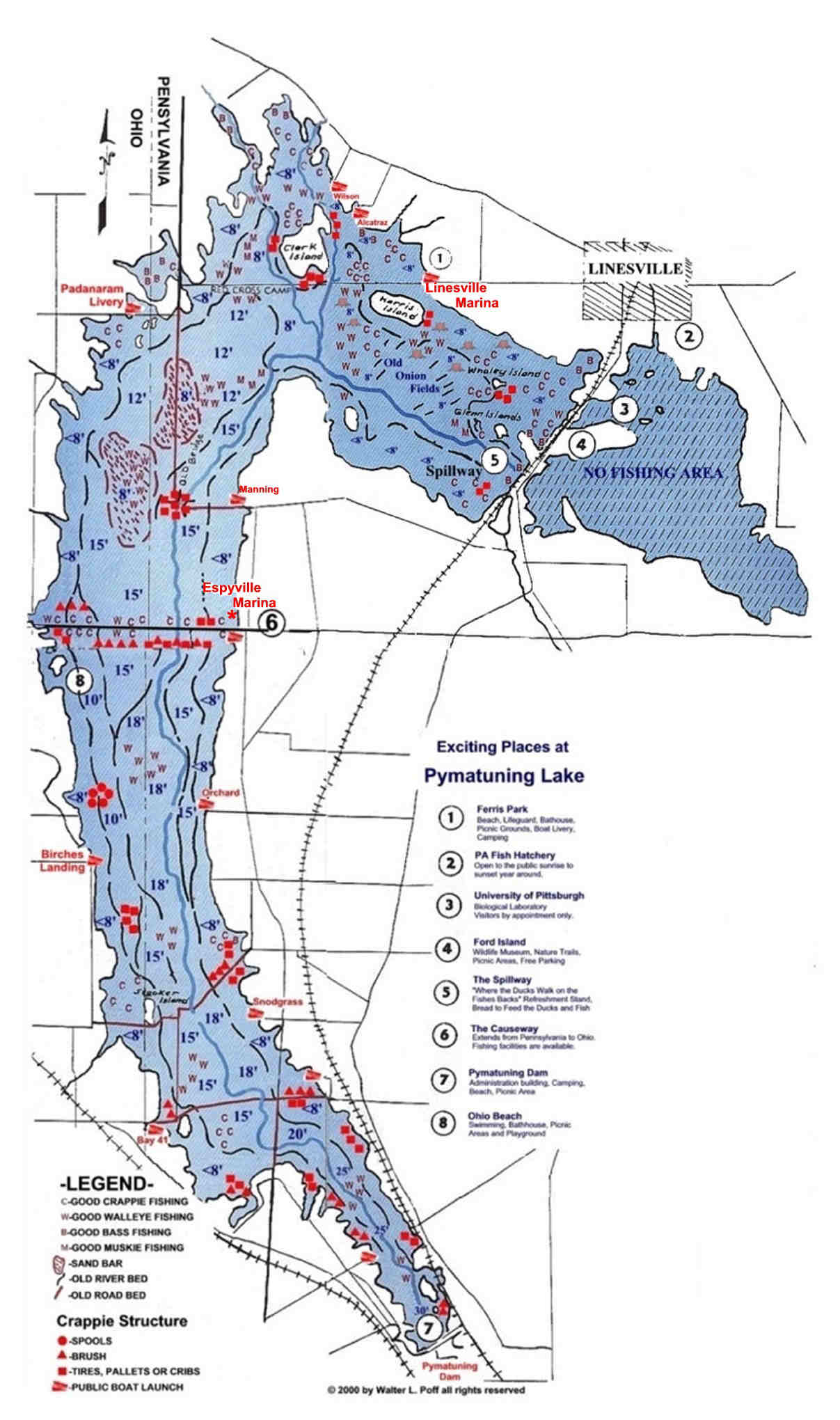 Fishing structure maps bing images for Fishing lake maps