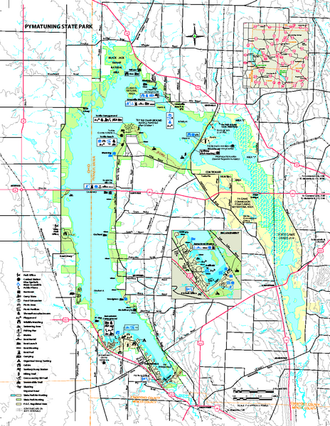 Pymatuning State Park Map