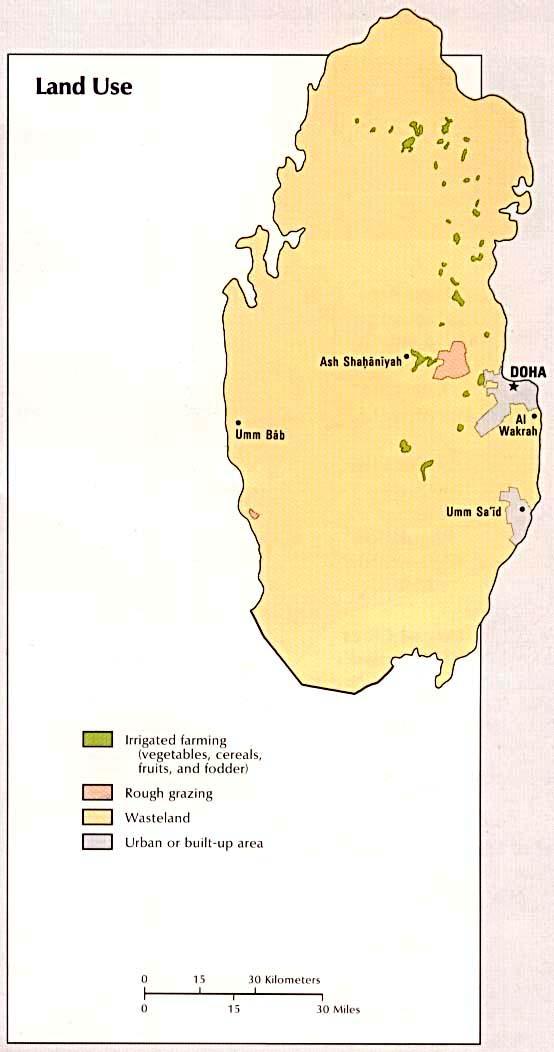 Qatar Land Use Map Qatar mappery