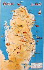 Qatar country map qatar mappery qatar map publicscrutiny Images