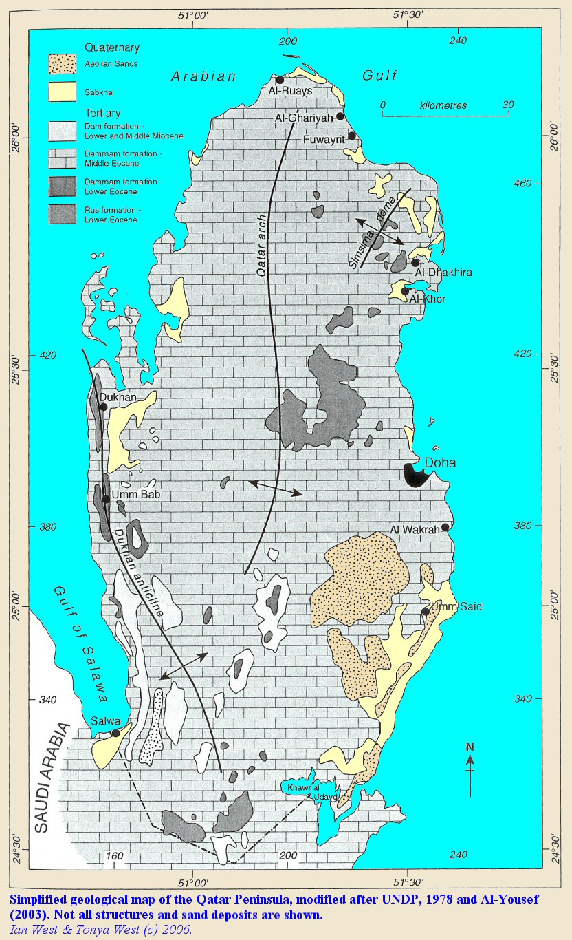 Qatar geological map mappery publicscrutiny Images