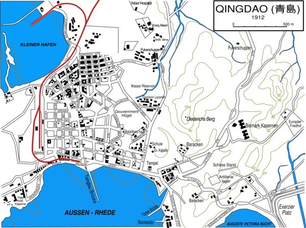 Qingdao City Map