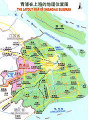 Qingpu District Tourist Map