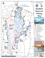 Quabbin Reservoir Fishing Map