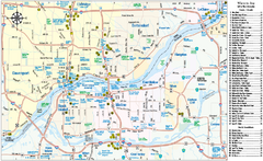 Quad Cities Area, Illinois Map