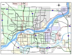 Quad City Region Map