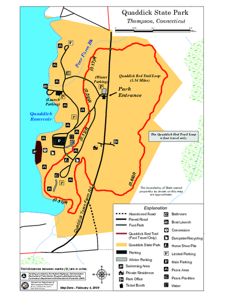Quaddick State Park Trail Map