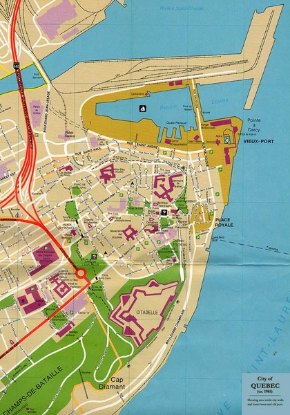 Canada Quebec City Map Quebec Canada Tourist Map