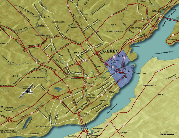 Quebec City Tourist Map Quebec City mappery – Tourist Map Of Quebec City