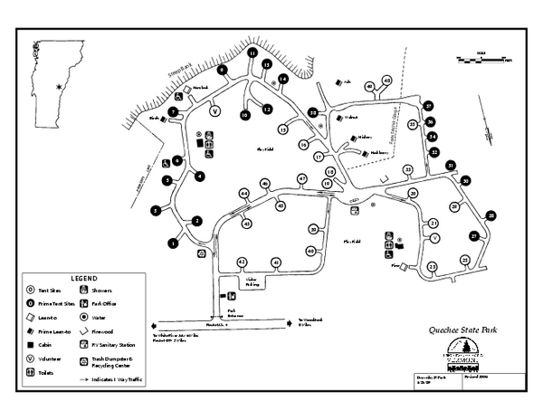 Quechee State Park map