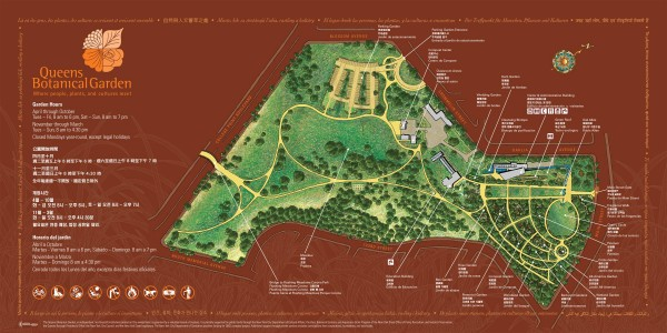 Queens botanical garden map 43 50 main street flushing - New york botanical garden directions ...