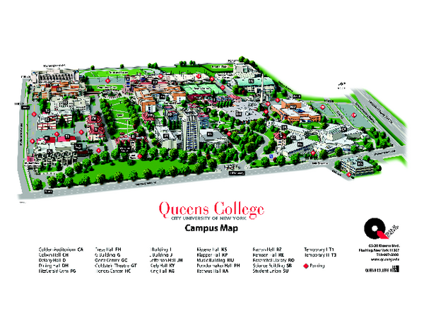 Queens College Campus Map - Flushing New York • mappery on