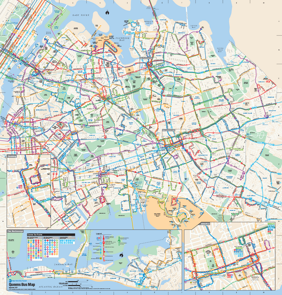 Queens County Map on