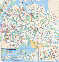 Queens, New York Bus Map