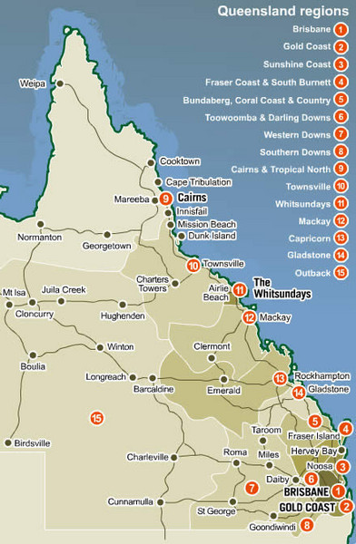 Queensland Map - Queen...