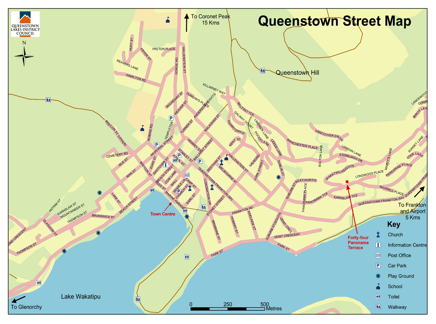Queenstown Map   Queenstown New Zealand • mappery