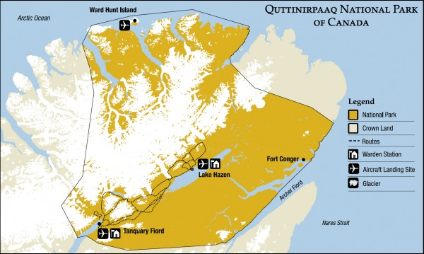 Quttinirpaaq National Park map