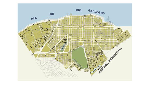 Río Gallegos City Map Riacuteo Gallegos Santa Cruz Argentina - Argentina map pdf
