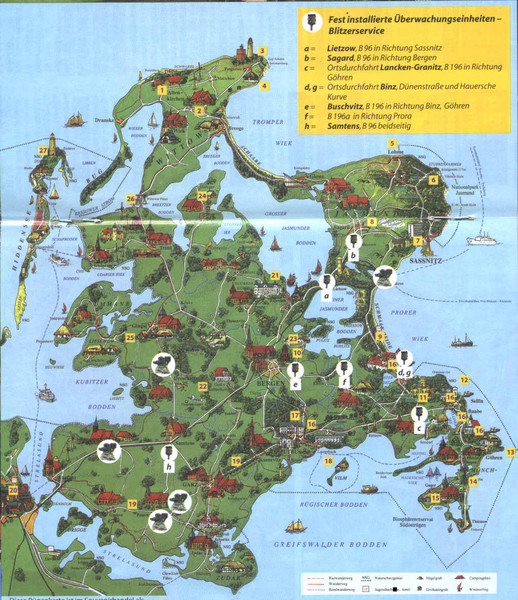 Rügen Tourist Map