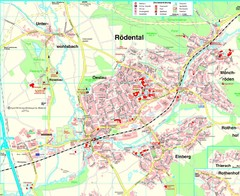 Rödental Map