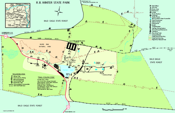 R. B. Winter State Park map