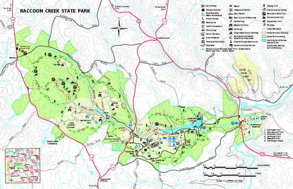 Raccoon Creek State Park Map