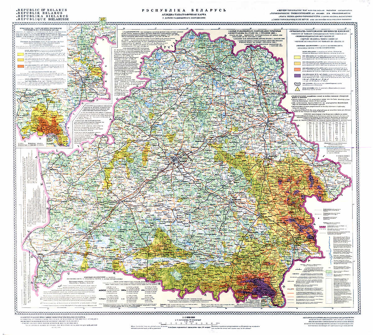 Radiation Contamination In Belarus Map Mappery - Radiation map in us