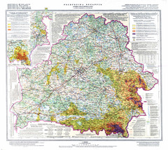 Radiation contamination in Belarus Map