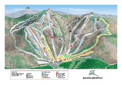 Ragged Mountain Ski Trail Map
