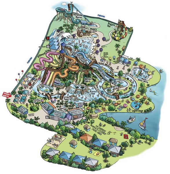 Raging Waters San Jose Map