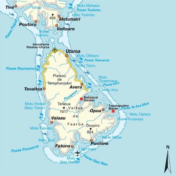 Raiatea Havai island Map - raiatea • mappery