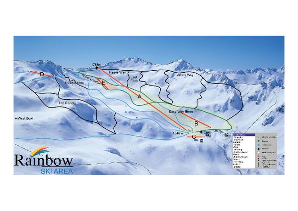 Rainbow Trail Map Rainbow Ski Area Nelson Lakes South Island New
