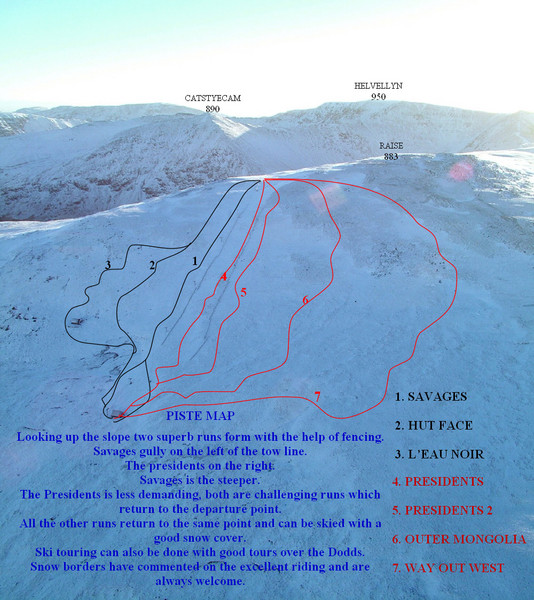 Raise Ski Trail Map