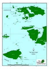 Raja Ampat Islands Map